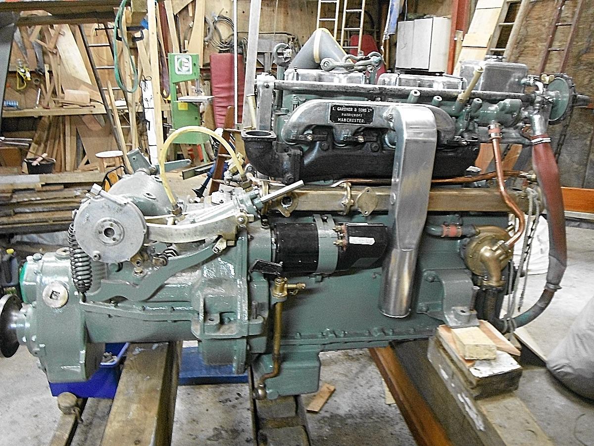 Gardner Engine   Wooden Boatbuilders